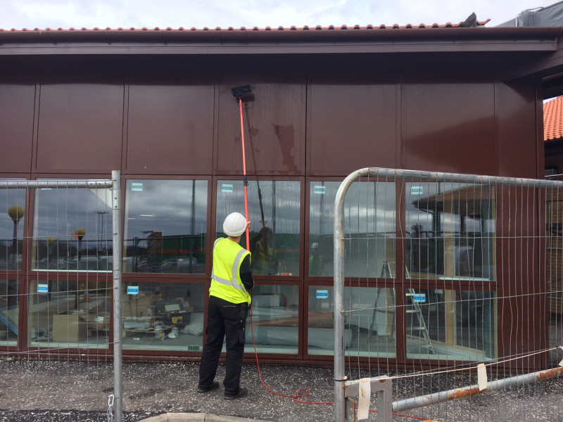 Commercial Window Cleaning at Ayr Hospital