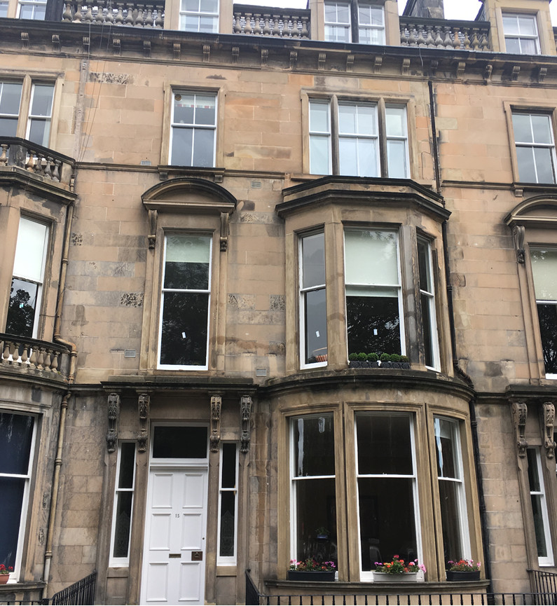 Learmonth- Window Cleaning marked windows on 1st floor for 2nd home