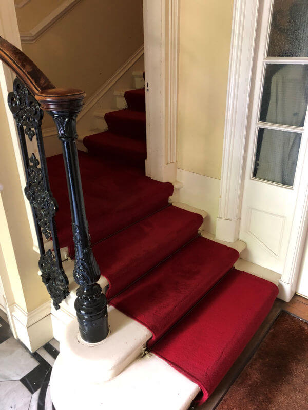 Communal stair carpet cleaning