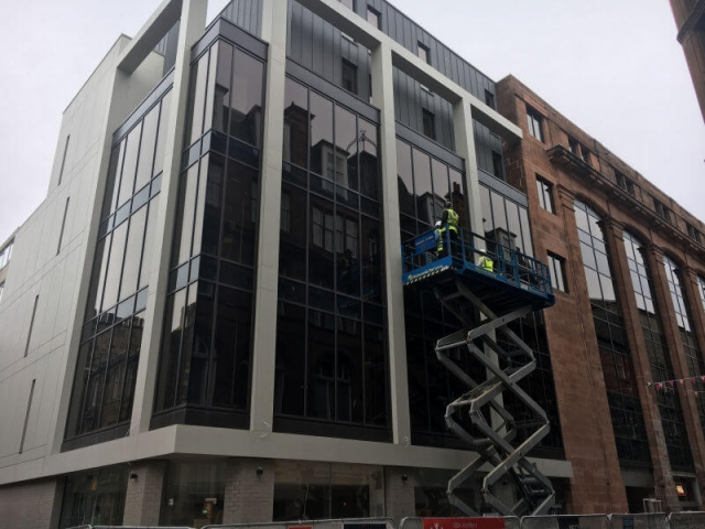 Commercial window cleaning by Edinburgh Clean