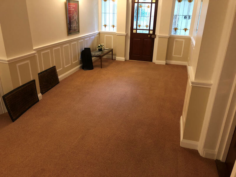 Communal carpet cleaned by Edinburgh Clean