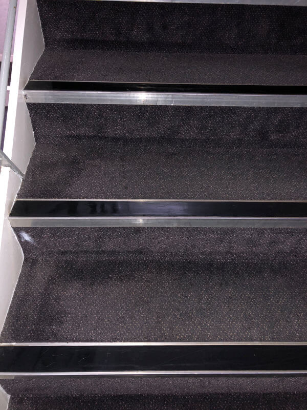 Communal stair carpet cleaning by Edinburgh Clean