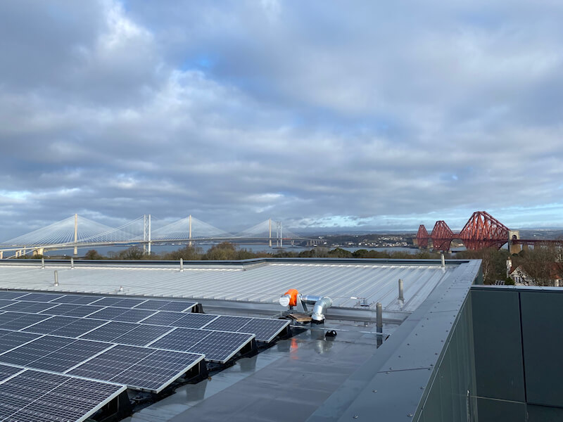 Solar Panels Cleaned at South Queensferry School