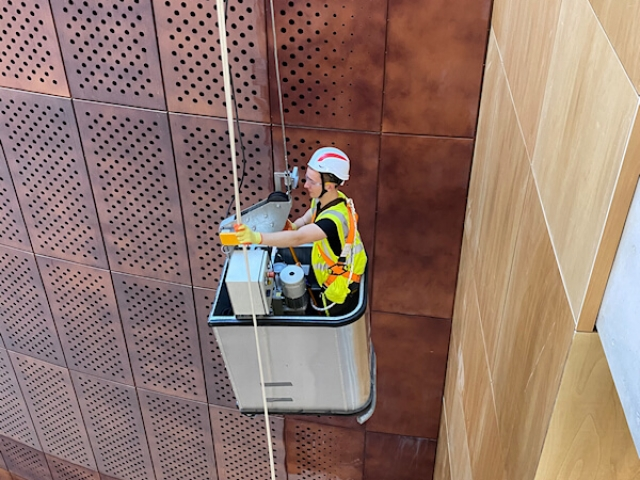 Internal Wall Cleaning On Site at Glasgow University