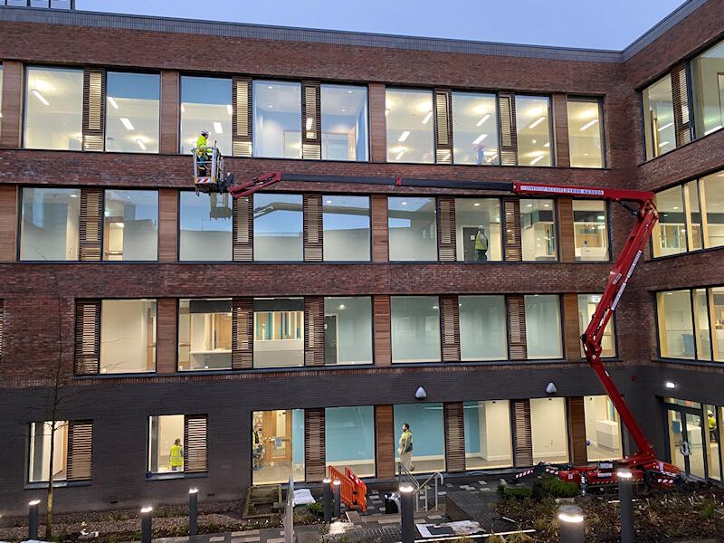 New building window clean