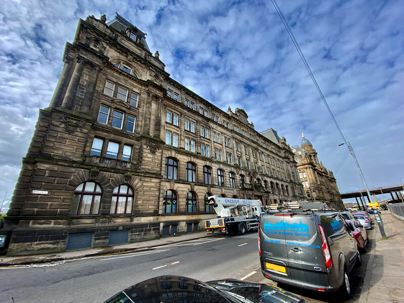 Commercial Window Cleaning Completed on Iconic Glasgow Building